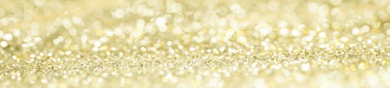 banner bokeh com glitter dourado foto