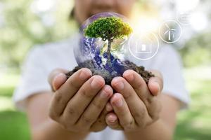 salve o conceito do mundo foto