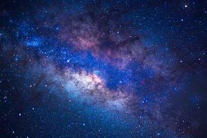 detalhes da Via Láctea de uma exposição de longa velocidade