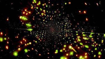 Ilustração 3d das luzes laranja e verde para o fundo ou papel de parede foto
