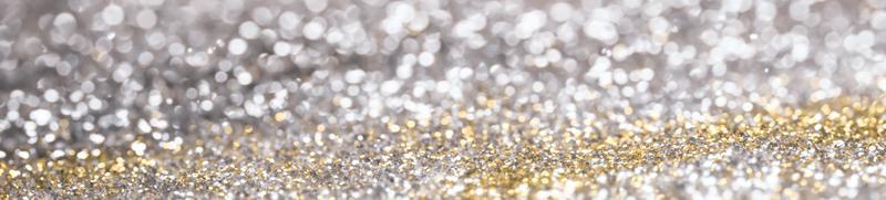 glitter prata e ouro bokeh foto