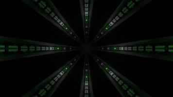 Luzes coloridas e formas ilustração 3D do caleidoscópio para o fundo ou papel de parede
