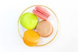 macarons franceses doces e coloridos foto