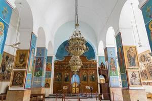 basílica ortodoxa grega de São Jorge em Madaba, Jordânia, 2018 foto