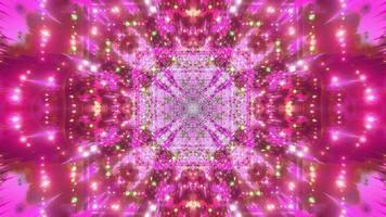 ilustração 3D de luz colorida e formas de caleidoscópio para o fundo ou papel de parede