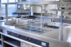 cozinha de aço inoxidável