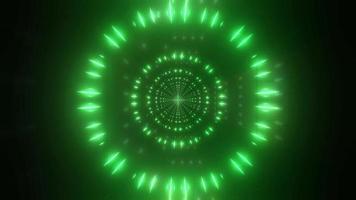 luz verde e branca e caleidoscópio de formas ilustração 3D para plano de fundo ou papel de parede