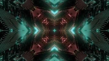 Projeto de caleidoscópio de ilustração 3D colorida para plano de fundo ou papel de parede foto