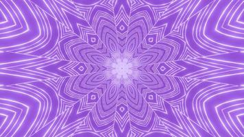 ilustração 3d floral roxo projeto caleidoscópio para plano de fundo ou papel de parede
