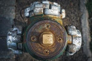 vista abstrata de um hidrante