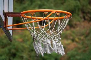 cesta de basquete de rua