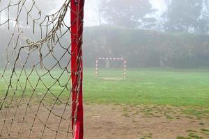 gols de futebol em um campo