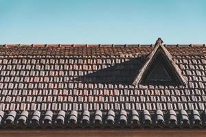 trapeira em telhado de terracota
