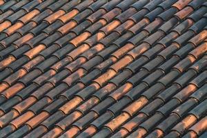 fundo de um telhado tradicional