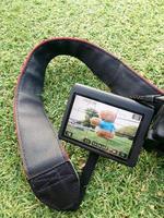 câmera grande monitor lcd foto