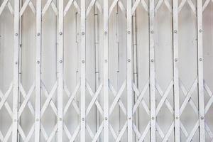 um pedaço de portão de ferro branco da casa
