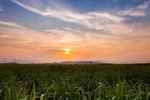 céu colorido ao pôr do sol foto