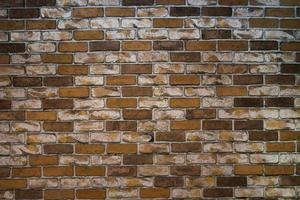 parede de tijolo escuro foto