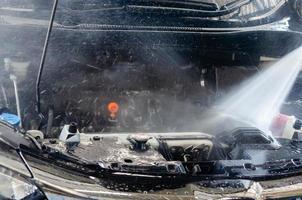 carro com motor de água de alta pressão
