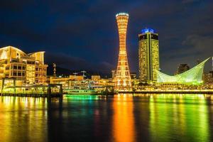 bela vista da cidade de kobe city, japão foto