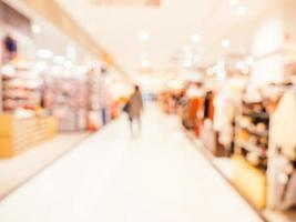 desfoque abstrato e fundo desfocado do shopping foto