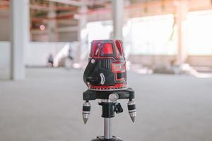 equipamento de medição com ferramenta de nível de laser