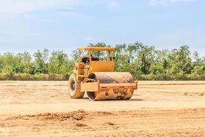 rolo de vibração do solo
