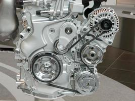 parte do motor de um carro foto