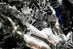 detalhe do motor do carro foto