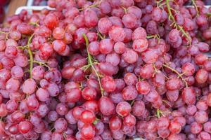 cacho de uvas vermelhas foto