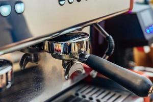 close-up de fazer café