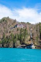 cidade de brienz no lago brienz por interlaken, suíça foto