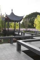 pavilhão de estilo chinês no parque