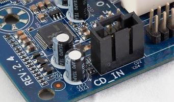 close-up do circuito eletrônico foto