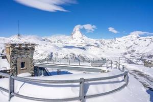 vista do matterhorn da montanha gornegrat foto