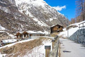 bela vista de zermatt, suíça foto