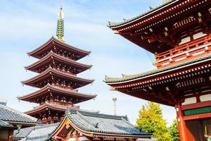 templo sensoji em tokyo, japão foto