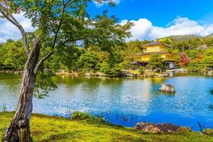 templo Kinkakuji ou o pavilhão dourado em Kyoto, Japão