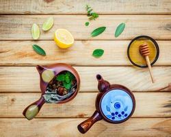 variedade de chá de ervas secas