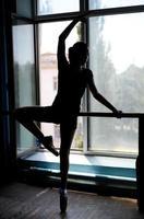 silhueta de uma dançarina de balé