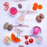 ingredientes orgânicos para cuidados com a pele foto
