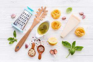 ingredientes italianos frescos foto