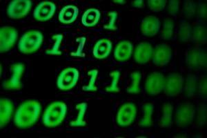 código numérico contínuo na cor verde foto
