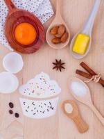 ingredientes para cupcakes foto