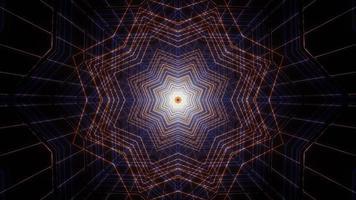 ilustração de desenho de caleidoscópio 3D para linhas de forma de estrela foto