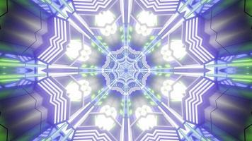 ilustração colorida do projeto da flor do caleidoscópio 3D para plano de fundo ou textura foto
