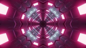 Ilustração 3D do projeto do túnel do caleidoscópio para o fundo ou textura foto