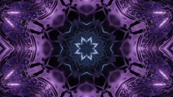 Ilustração de design floral caleidoscópio 3D para plano de fundo ou textura foto