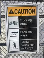sinal de cuidado ao ar livre
