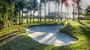 bunker de areia do campo de golfe